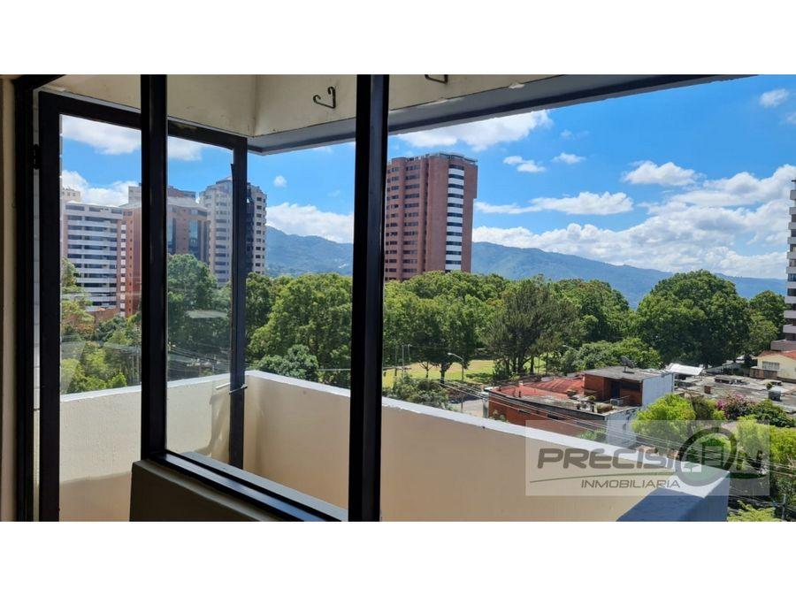 apartamento en alquiler zona 13 edificio vistalago