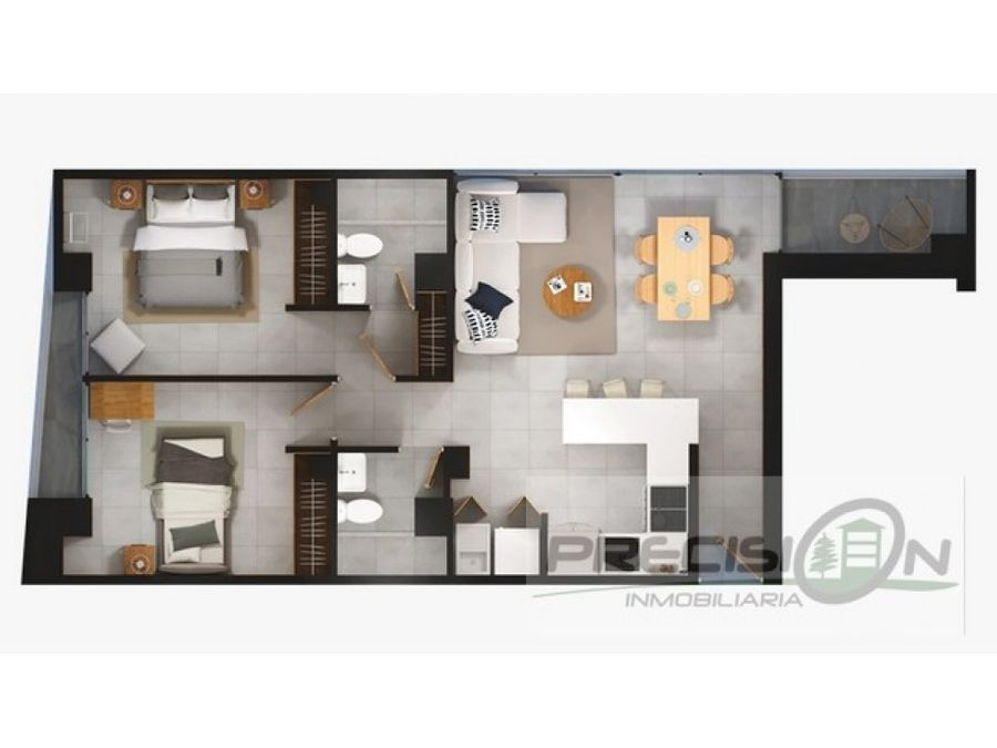 apartamento en venta zona 15 edificio telia