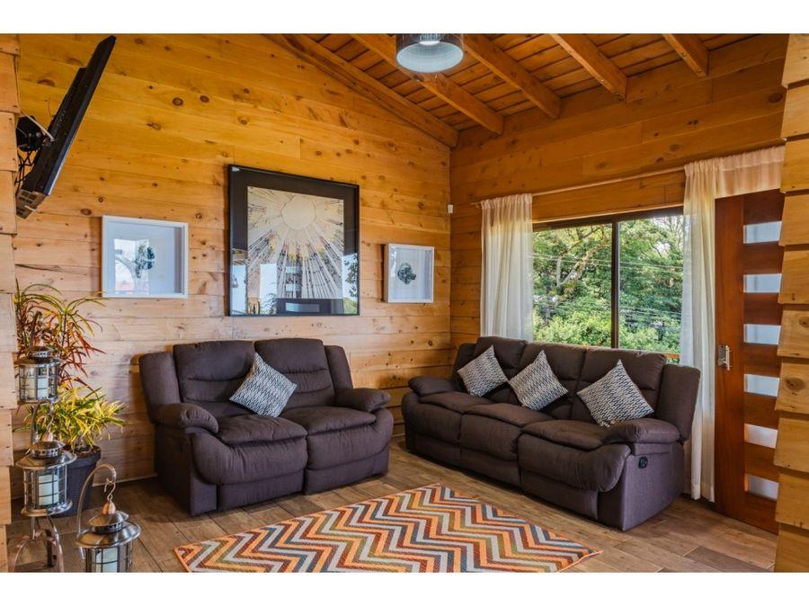 se vende casa de montana totalmente amueblada residencial el castillo