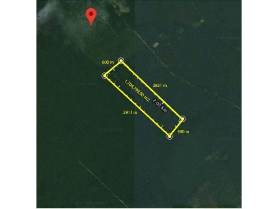 170 hectares a 15 km de punta maroma