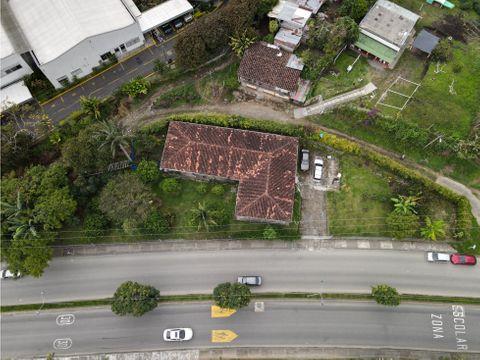 se vende casa campestre con lote para desarrollo comercial