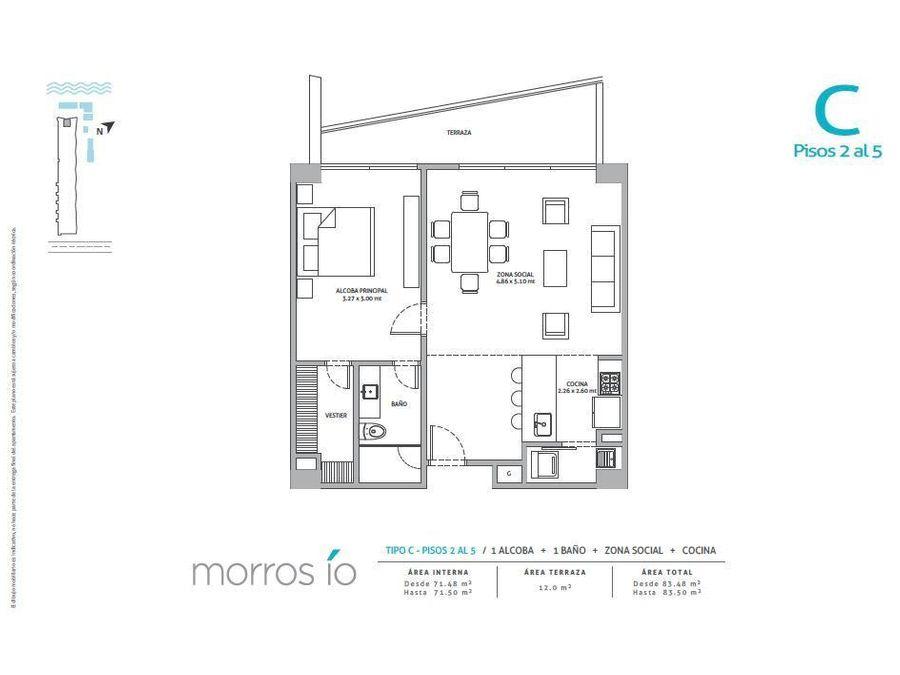 morros io apartamento en venta en cartagena zona norte