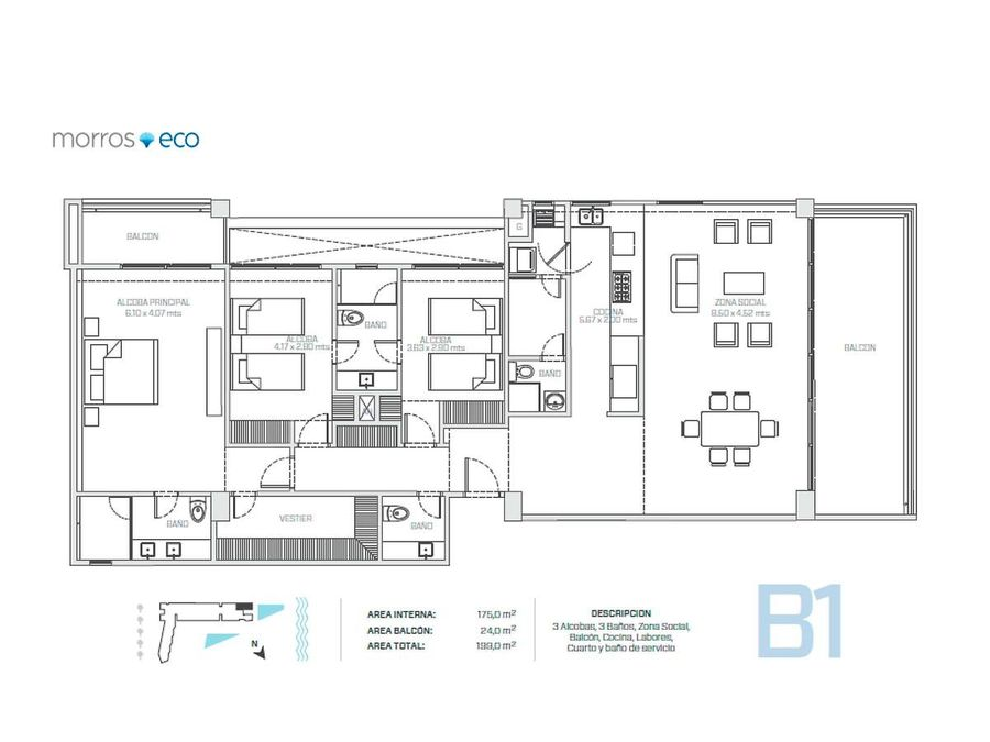 morros eco apartamentos en venta en cartagena zona norte