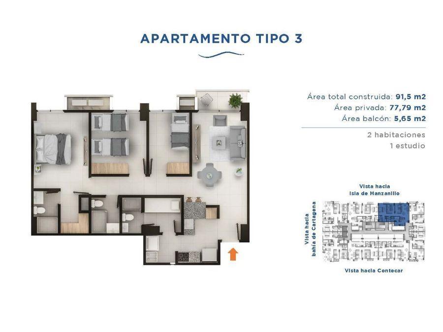 bosque bahia apartamentos con vista a la bahia de cartagena
