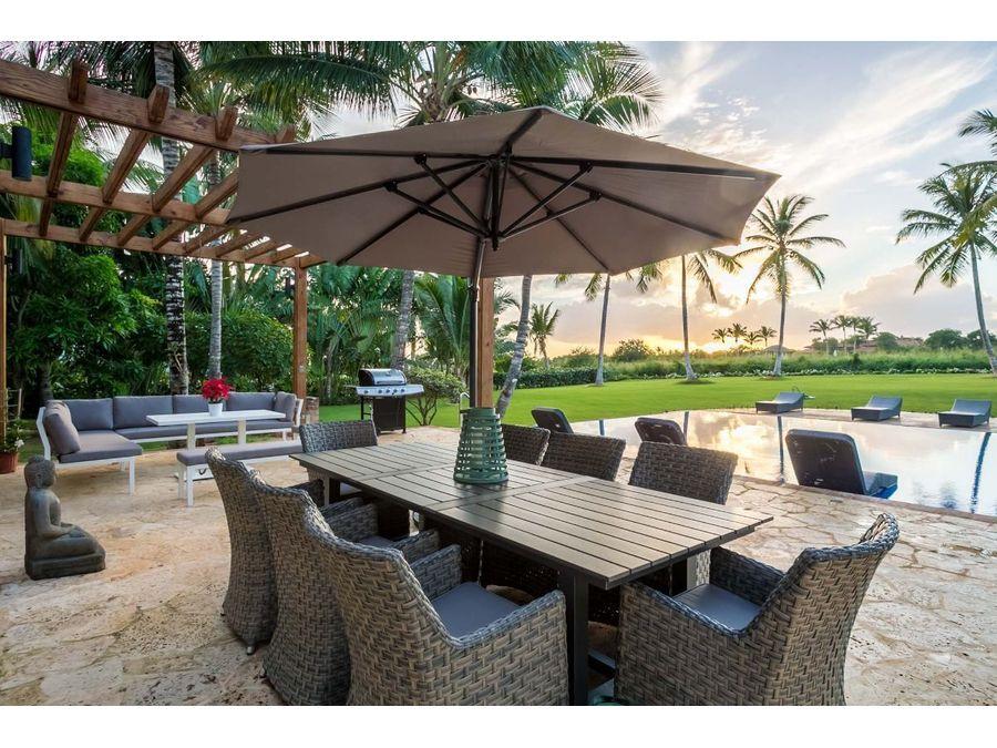 villa tropical de 6 hab con vistas al campo de golf y mar caribe