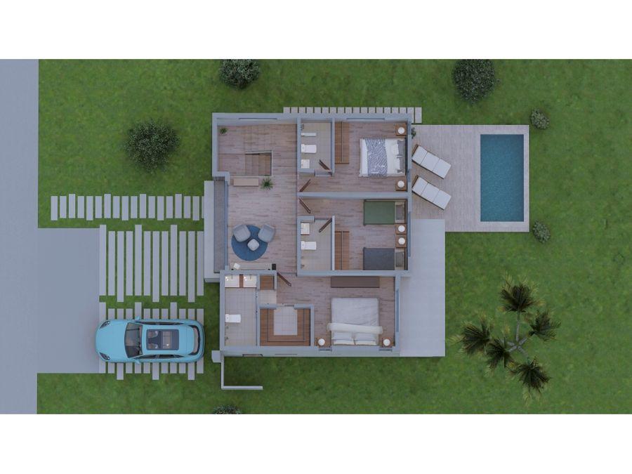 orange villa en la comunidad de vista cana en punta cana