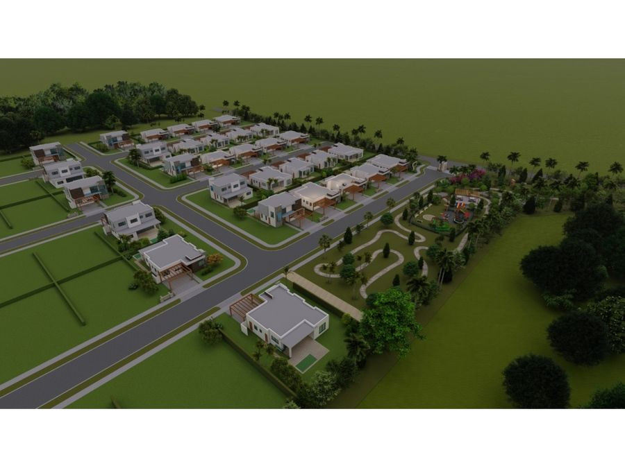 yellow villa en la comunidad de vista cana en punta cana