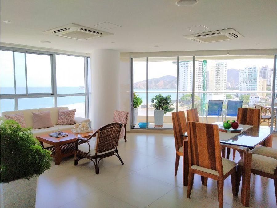venta de apartamento en playa salguerosanta marta