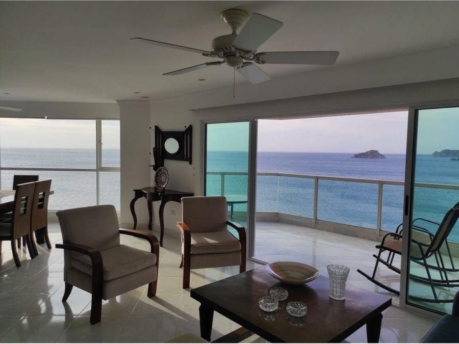 venta de apartamento rodadero sur frente al mar