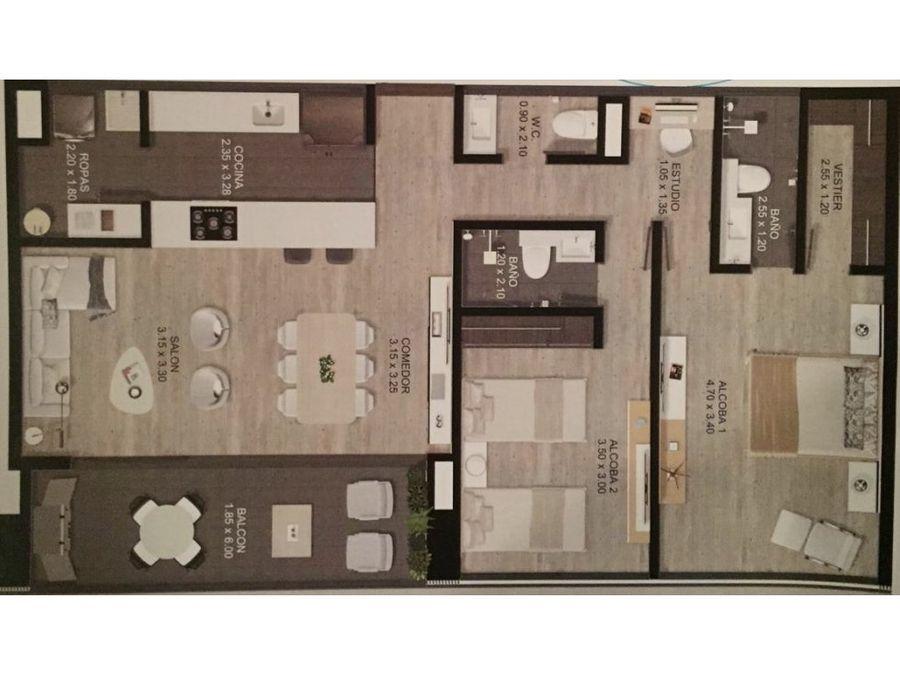 apartamento en planos en venta sector country club