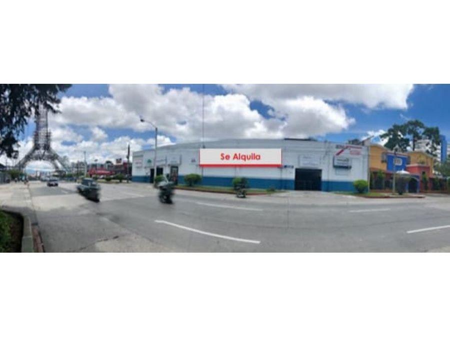 renta bodega en zona 9 2 calle