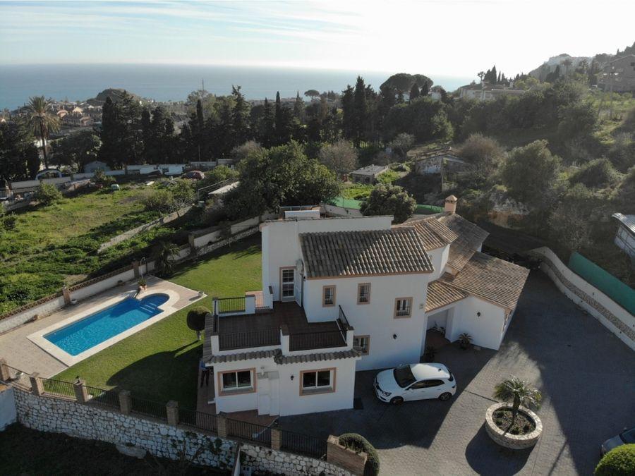 venta villa benalmadena vistas al mar