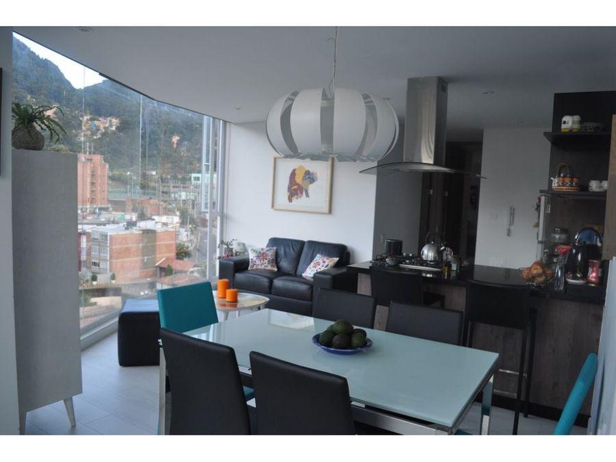 apartamento en chapinero alto con terraza