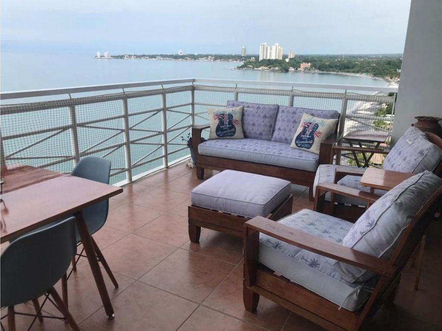 venta lujoso penthouse con vista al mar en nueva gorgona
