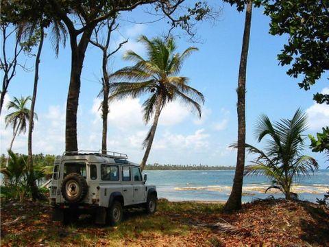 venta terreno en frente del mar caribe colon