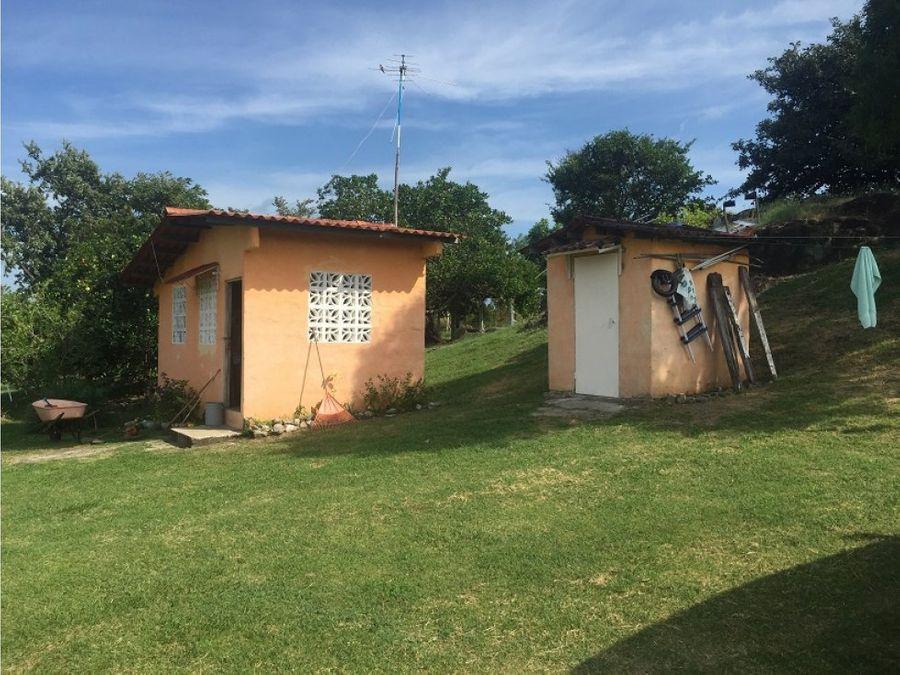 venta terreno con casa en las lajas cabuya