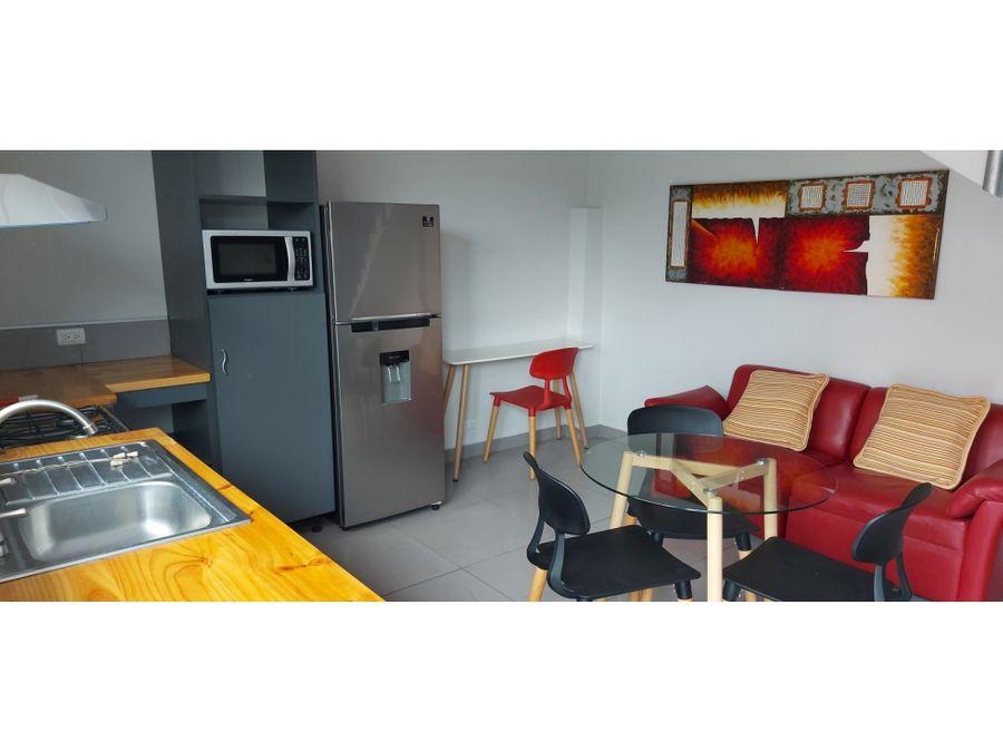 alquiler de apartamento amoblado de 1 cuarto en pozos de santa ana