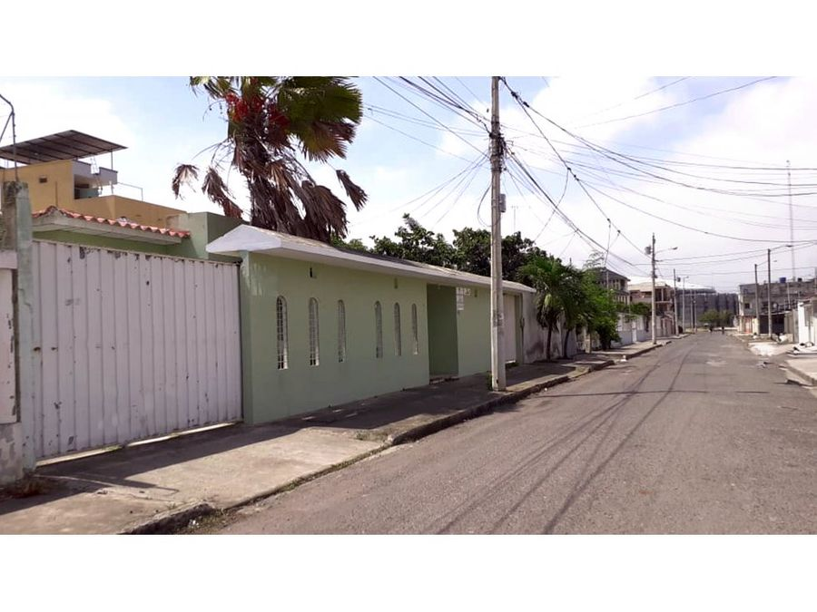 amplio terreno con casa con garaje en venta al oeste de machala os07