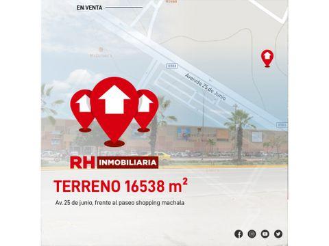 terreno en venta listo para urbanizar al ingreso de machala midm