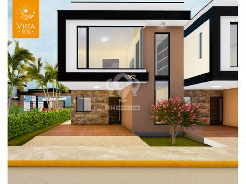 casa de 2 pisos con terraza en urb vistasol alb