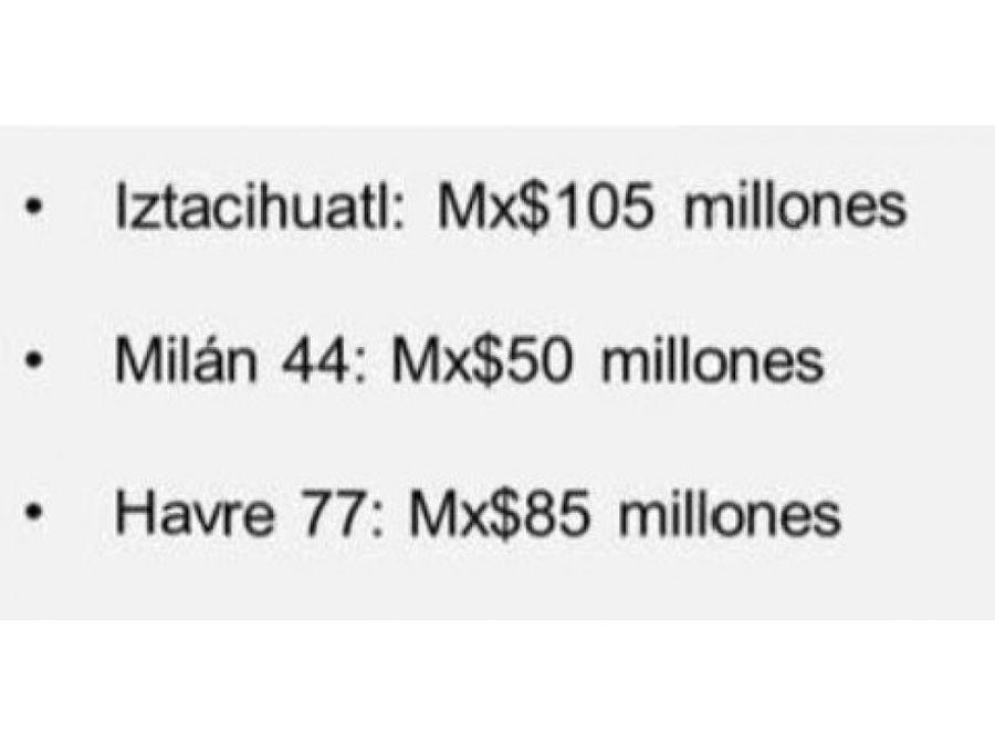 en venta 3 hoteles cdmx