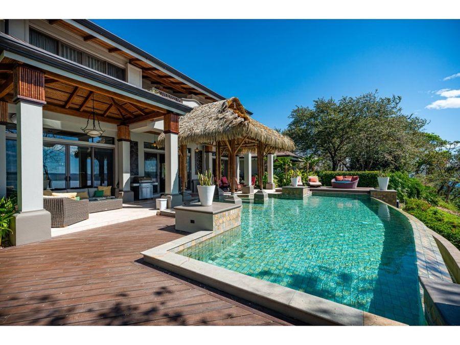 lujosa casa frente al mar en peninsula papagayo guanacaste