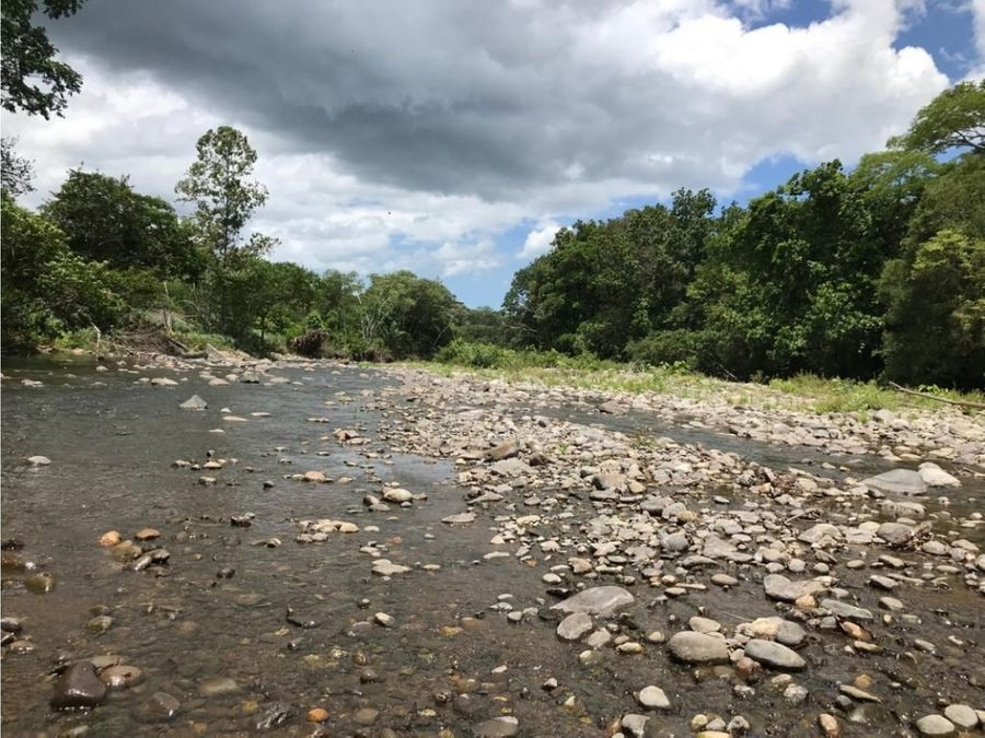 finca bordeada por el rio en chomes puntarenas