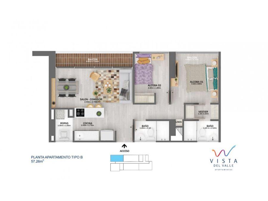 venta apartamento vista del valle sector las lomitas