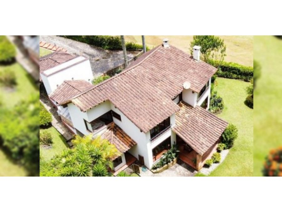 casa en venta en parcelacion villas de llanogrande