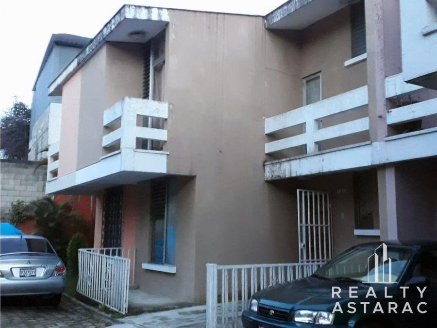 casa en condominio la parroquia zona 6