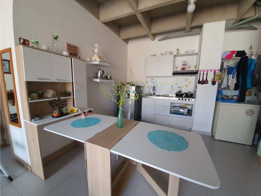 venta de apartaestudio tipo loft en calle larga sabaneta