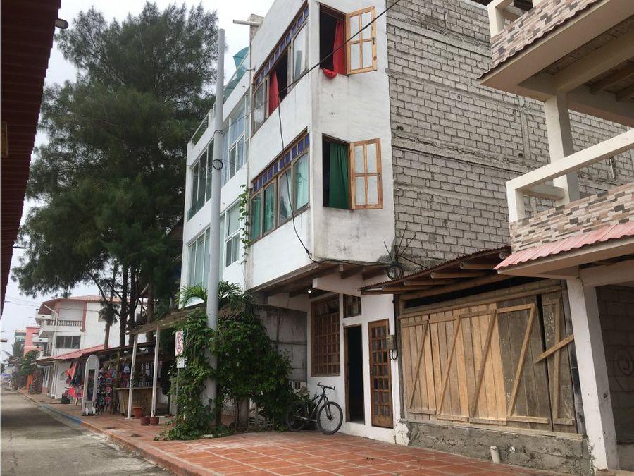 edificio rentero 3 departamentos frente al mar montanita