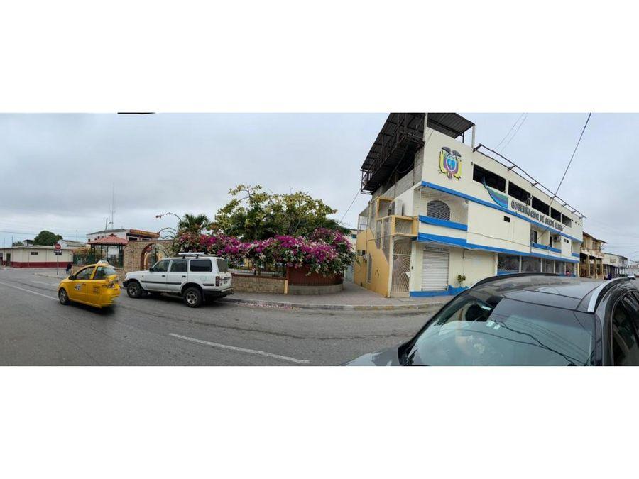 venta edificio esquinero comercial centro prov santa elena