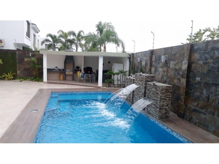 se vende espectacular casa moderna en urb la ensenada isla mocoli