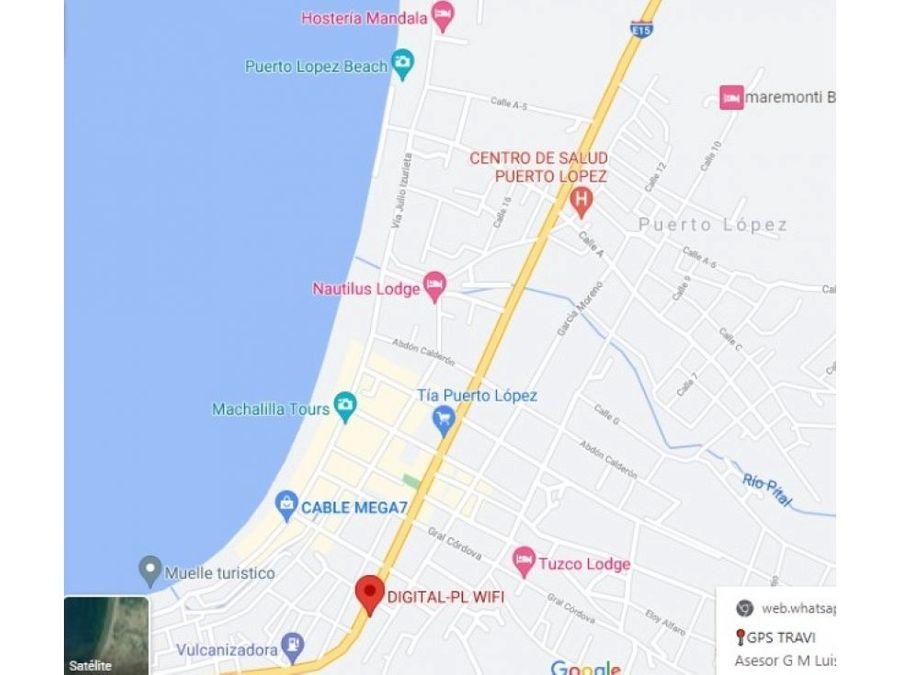 venta del terreno en barrio la merced puerto lopez