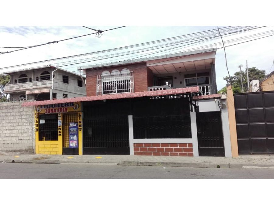 venta casa comercial de dos pisos en duran