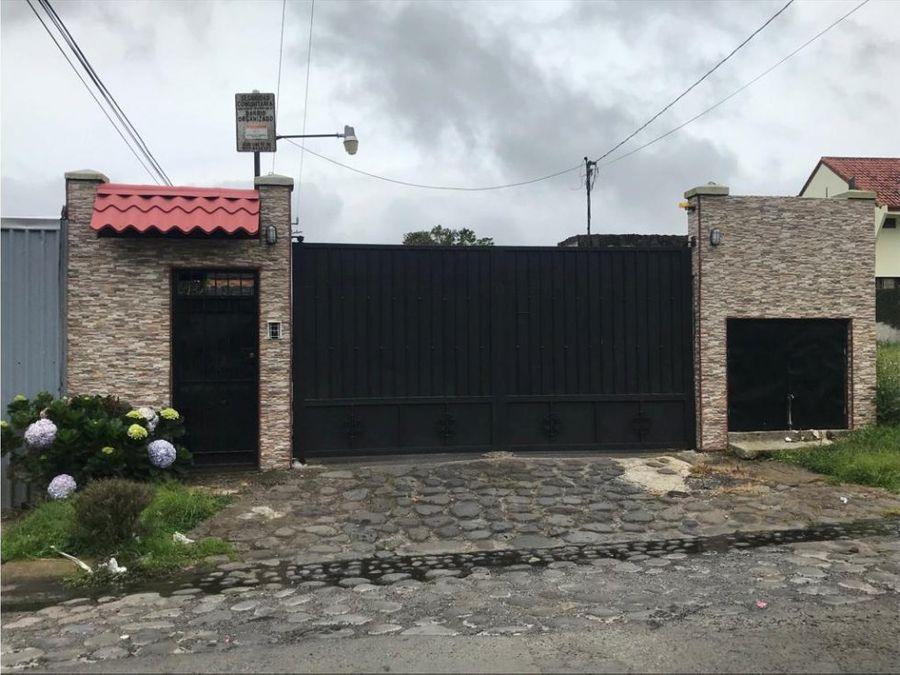 venta de lote en residencial cerrado en moravia