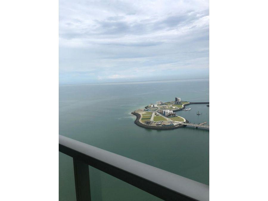 apartamento en alquiler amoblado trump 2 rec vista al mar mf