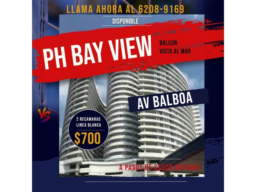 apartamento en alquiler en avenida balboa ph bay view