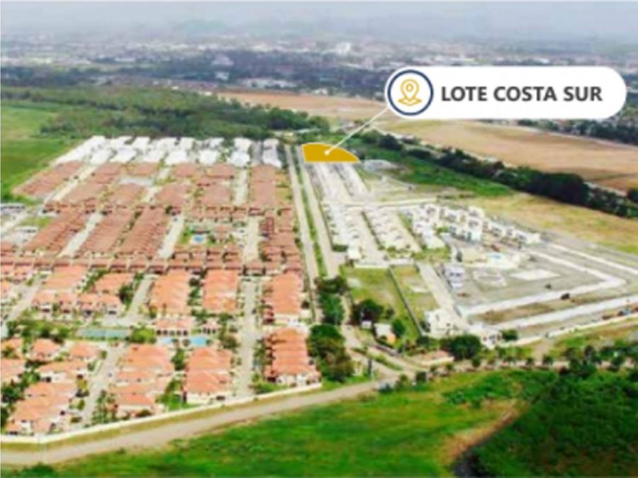 se vende lote de terreno en costa sur mac