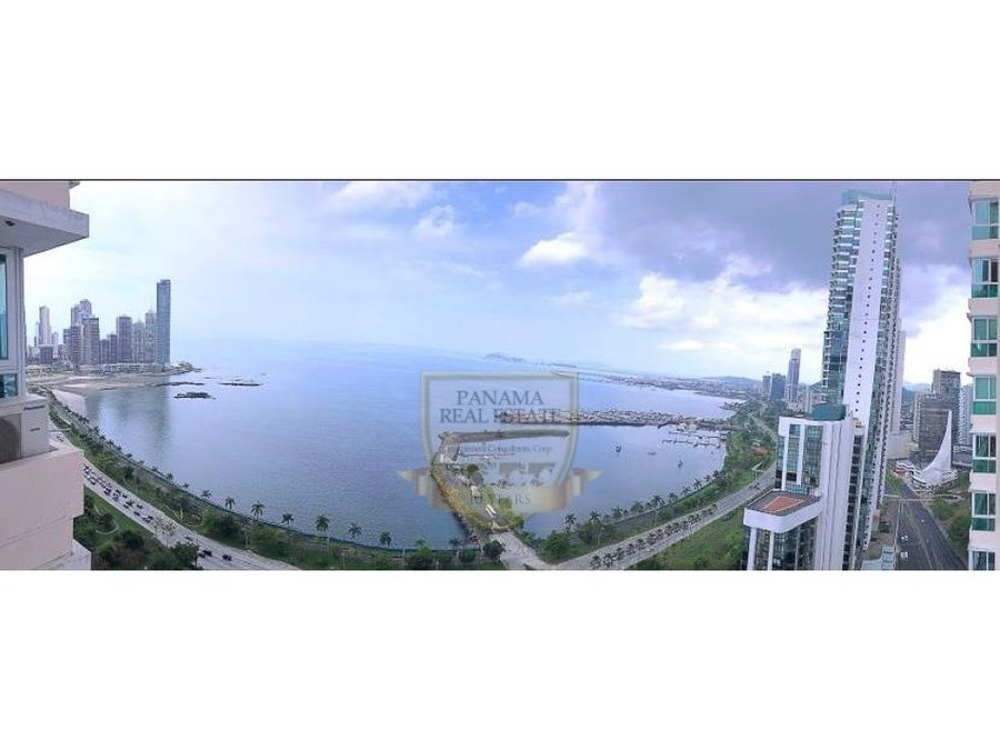 alquiler avenida balboa ph vista del mar amoblado 1rec 105m2 hm102