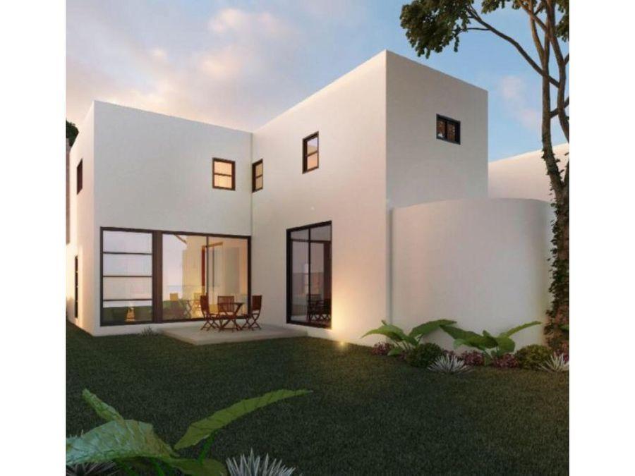 casas modernas en privada parque central cholul