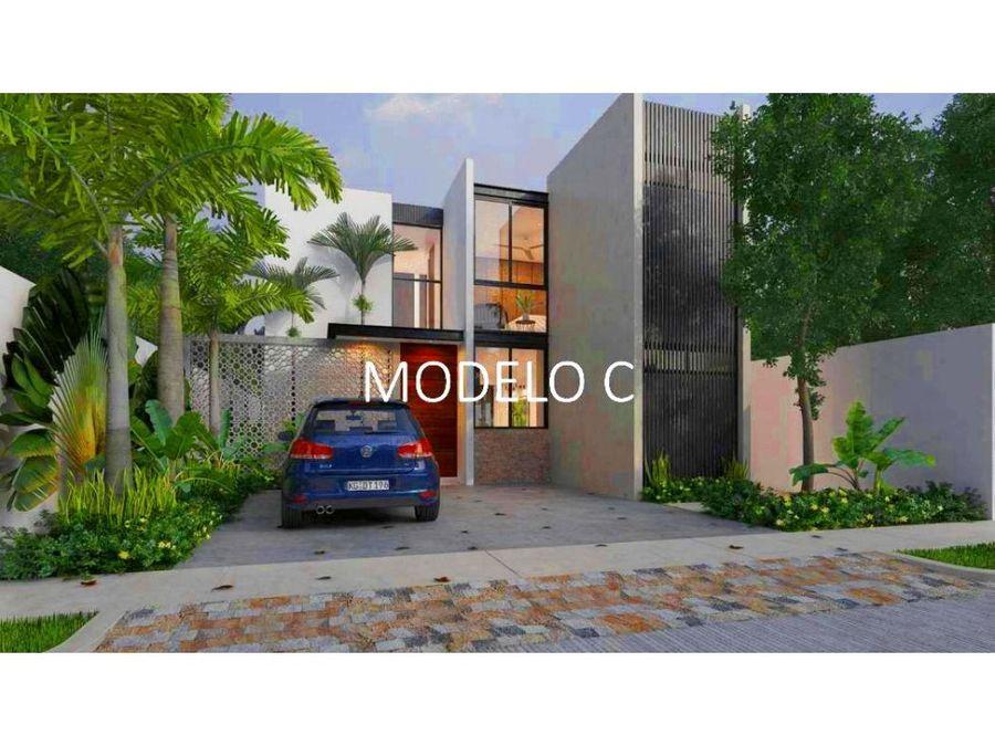 hermosas casas en privada yaax beh mod c y d