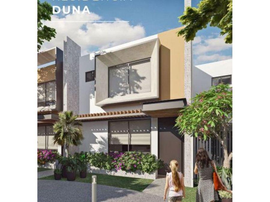casa en privada temozon village modelo duna