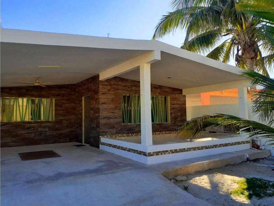 casa de un piso en la playa amueblada