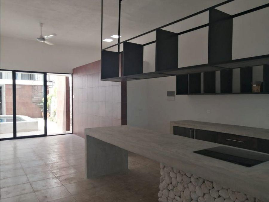 bonita casa estilo minimalista en el centro de merida yucatan