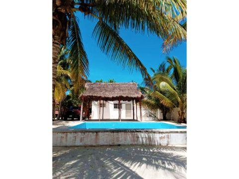 casa chalet a 180 metros del mar de chicxulub