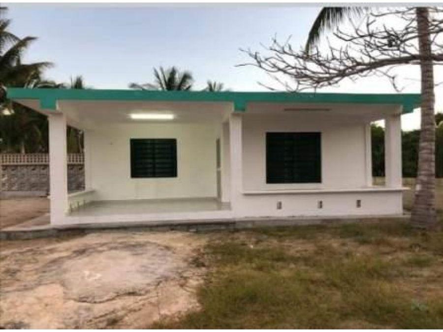 casa verde agua 1 piso en chelem