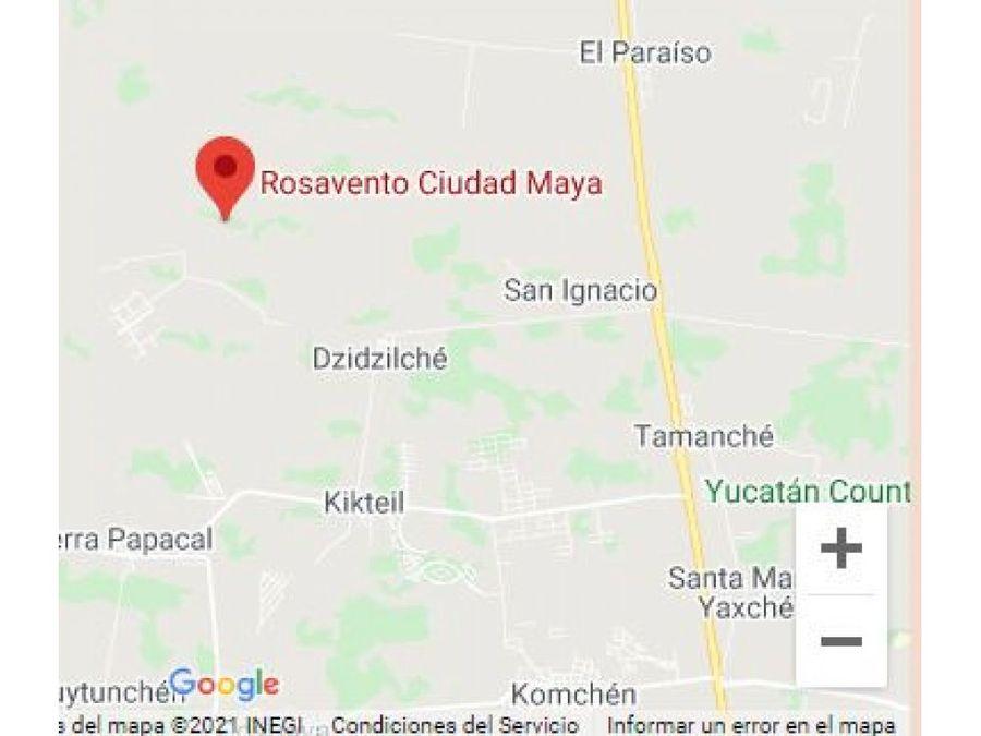 terrenos en rosavento cd maya priv abrego alto merida yucatan