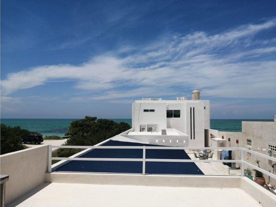 casa villa vista frente al mar de chelem